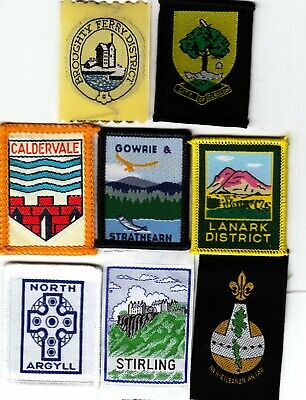 Boy Scout Badges From SCOTLAND X 8 Inc  Ext BROUGHTY FERRY • 3.50£