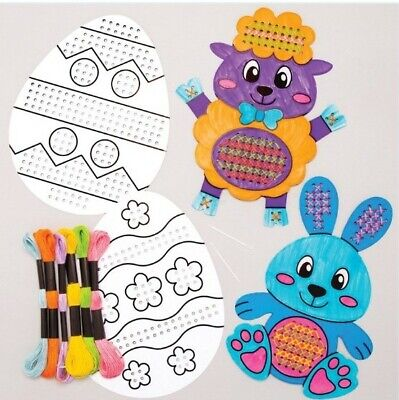 Kids Easter Craft 1x Colour-in Cross Stitch Kits. 2.90 Each • 2.90£