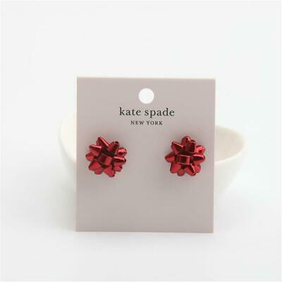 $ CDN41.12 • Buy Kate Spade New York Red Bourgeois Bow Stud Earrings