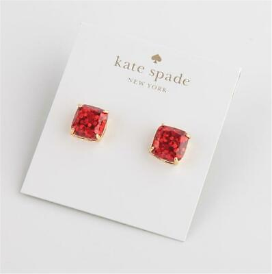 $ CDN30.24 • Buy Kate Spade New York Mini Square Stud Red Glitter Earrings