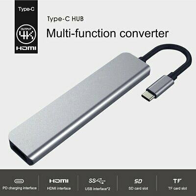 AU34.99 • Buy 7 In 1 USB-C Docking Station Hub Type-C 4K HDMI PD Charging Dual USB Adapter