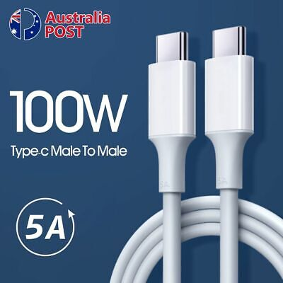 AU5.99 • Buy 5A 100W PD USB C To USB Type-C Fast Charge Data Cable For Macbook Samsung Huawei