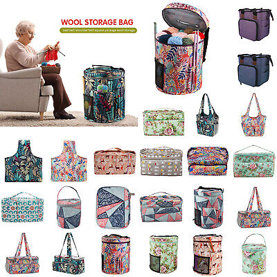Knitting Storage Bag Wool Tote Crochet Hook Needles Accessories Organizer Holder • 16.72£