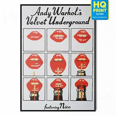 £8.99 • Buy Andy Warhol The Velvet Underground Classic Pop Art 1970s Poster *LAMINATED*