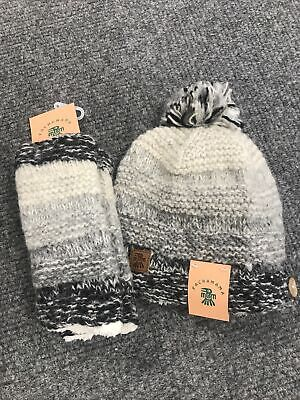 Pachamama Sherpa Lined Hat And Handwarmer Set Fair Trade From Nepal • 35£
