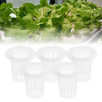 $ CDN15.04 • Buy 100pcs Vegetable Seedling Basket Plastic Net Cup Soilless Cultivation Mesh Pot