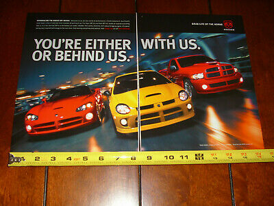 $14.95 • Buy 2004 Dodge Srt4 Srt10 Ram Viper Original 2 Page Ad