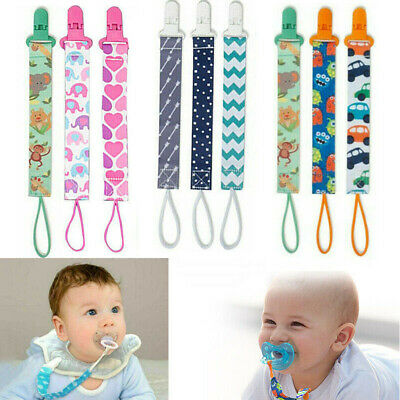 3PCS Lovely Dummy Clips Baby Pacifier/Soother Clips Also Fits Teething Toys • 4.29£