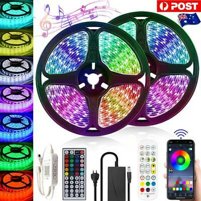 AU26.36 • Buy RGB LED Strip Lights 5050 Waterproof IP65 5m 10m 20m IR/APP Controller Adapter