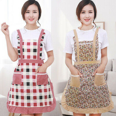 Lady Kitchen Apron Dress Restaurant Home Kitchen For Pocket Cooking Funny Apr WS • 5.92£