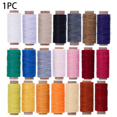 £4.33 • Buy 50Meters 150D Leather Waxed Thread Cord Sewing Line For DIY Handicraft