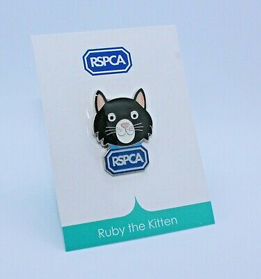 RSPCA Enamel Pin Badge. Ruby The Kitten. Cat Brand New. *Charity Listing* • 1.50£