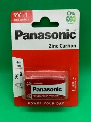 Panasonic 9v Pp3 Zinc Carbon Batteries 9 Volt Smoke Alarms Lr22 Mx1604 Mn1604 • 4.24£