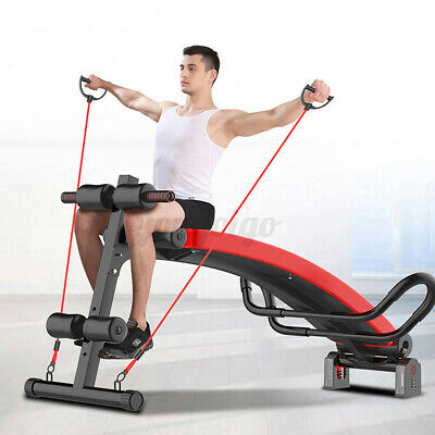 Folding Sit Up Bench Ab Crunch Exercise Board Decline Fitness Workout Home • 75.04£