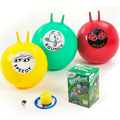 3 Giant Adult Space Hoppers - Hoppin Mad By Garden Games Toy Party + Foot Pump • 32.97£