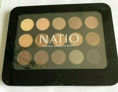 AU19.99 • Buy Natio Eyeshadow Palette - 15 Shades Eyeshadows - Golden - New And Sealed