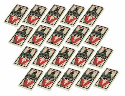 $14.78 • Buy Victor M150 Lot Of Twenty (20) Snap Spring Wooden Mouse Trap / Rodent Control