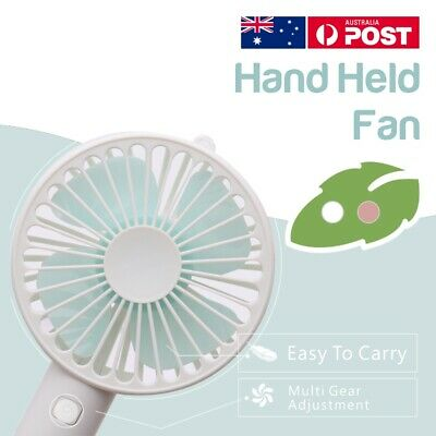 AU13.99 • Buy Mini Portable Hand-held Desk Fan Cooling Cooler USB Air Rechargeable Conditioner