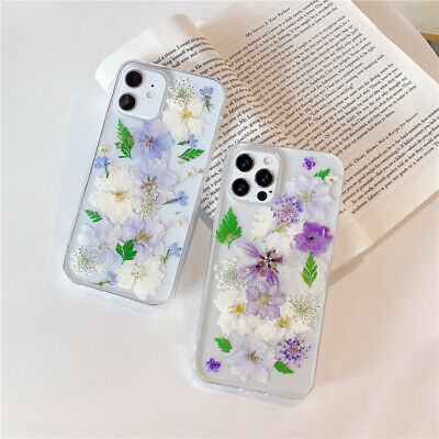 Luxury Real Dried Flower Clear Phone Case Cover For IPhone 12 11 Pro SE 7 8 XR • 4.56£