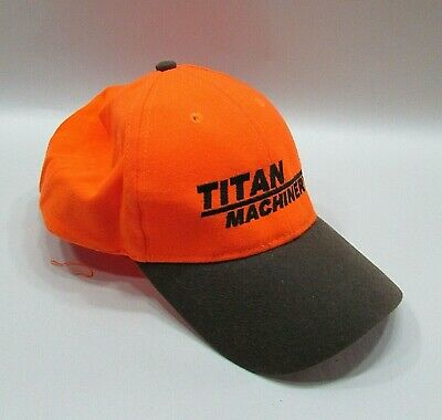 Titan Farm Machinery Hunter Orange Daystone Trucker Hat Farm Baseball Cap FREE S • 9.49£
