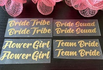 £1.25 • Buy Bridesmaid, Bride, Team Bride Iron On Transfer Vinyl For Slippers (sold By Pair)
