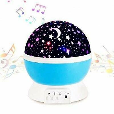 Musical Star Night Light Projector With Calming Music For Babies & Children • 25.99£