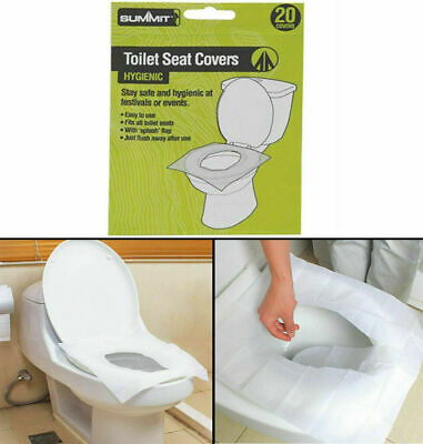 £1.99 • Buy 20pk DISPOSABLE HYGIENE CLEAN SEAT COVER FLUSHABLE TOILET PAPER TRAVEL CAMPING