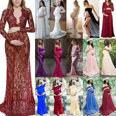 AU48.29 • Buy Pregnant Lady Sexy Long Dress Maternity Maxi Gown Dress Photography Photo Shoot
