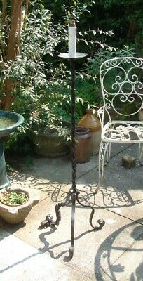 Vintage Wrought Iron Standard Lamp NICE SHAPE  - Candle Holder  • 75£