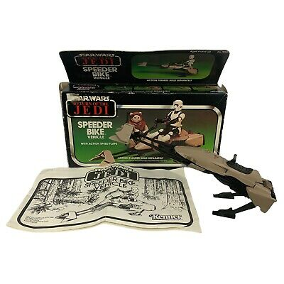 $ CDN113.82 • Buy Vintage 1983 Star Wars Return Of The Jedi Speeder Bike Vehicle With Original Box