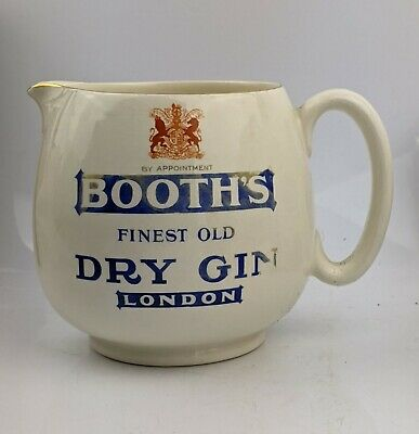 1930s Booths Gin Advertising Pub Water Jug By Macdonald Swan & Co - Breweriana • 14.99£