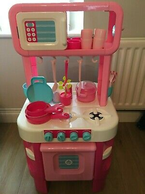 Early Learning Centre Little Cooks Kitchen In Pink, Including Accessories • 35£