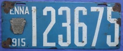 $ CDN75.28 • Buy 1915 Pennsylvania Porcelain License Plate PA PENNA With Marker