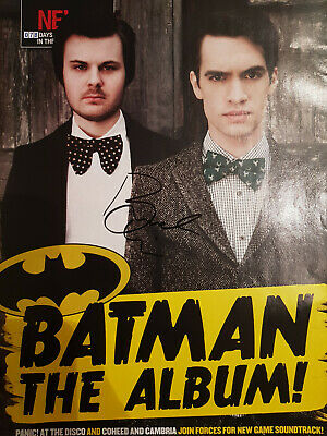 Rare Hand Signed Brendon Urie (panic At The Disco) Signature Autographed Poster • 19.99£