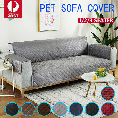AU20.92 • Buy Sofa Cover Quilted Couch Covers Lounge Protector Slipcovers 1/2/3 Seater Pet Dog