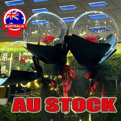 AU12.86 • Buy LED Balloon Rose Bouquet Luminous ―― Valentine's Day GIfts 2021 AUS