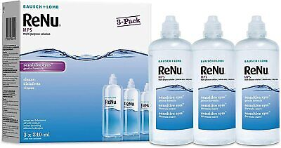 Multi-Purpose Contact Lens Solution 3 X 240ml - Apply To Clean, Disinfect, Rinse • 20.49£
