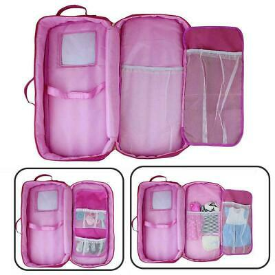 18-inch Doll Case Carrier Suitcase Storage Travel For Girls Ship Doll Fast Y8A3 • 7.98£