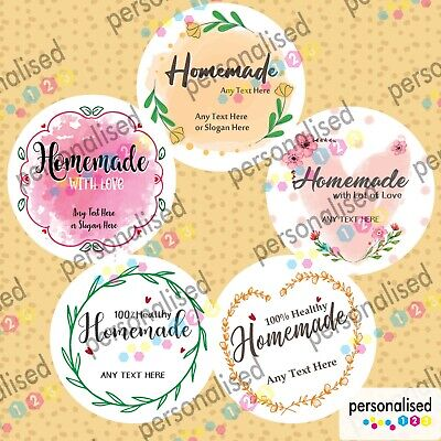 £2.09 • Buy Personalised Homemade Jar Labels Stickers Jams Preserves Mason Home Made Cooking