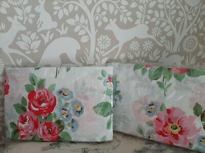 £10 • Buy Cath Kidston Rose Print Pillowcases X 2 Standard Size White And Pink