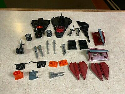 $ CDN65.07 • Buy Vintage GI-JOE COBRA Vehicle Parts Lot - 1986 COBRA NIGHT RAVEN S³P BLACK JET