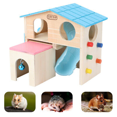 1pc Hamster House Ladder Slide Funny Climbing House Pet Hut Play House Hideout • 15.42£