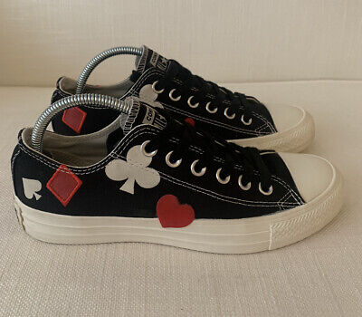 Converse Black Queen Of Hearts Low Top LIMITED EDITION Size 37 UK 4.5 USED • 36£