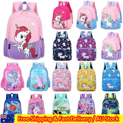 AU21.49 • Buy Kids Girls Boys Unicorn Cartoon Shoulder Bags Rucksack Backpack Child School Bag