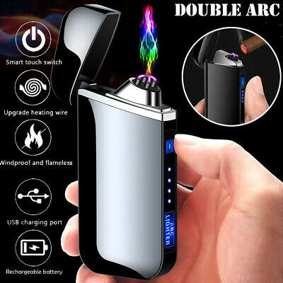 Electric USB Lighter Rechargeable Plasma Windproof Flameless Cigarette Lighters • 12.99£