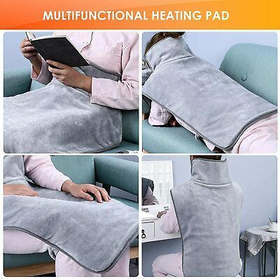 Therapeutic Electric Heat Pad Soothing Muscle Tension Back Neck Pain Relief Body • 21.99£