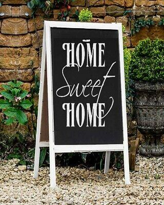 £19.99 • Buy Wooden Chalkboard Easel Sign A Frame Wedding Party Events White