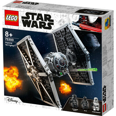 Lego Star Wars Imperial TIE Fighter Space Ship With Pilot Building Set - 75300 • 36.50£