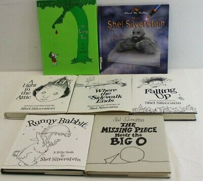 SHEL SILVERSTEIN LOT 7~Falling Up~Where Sidewalk Ends~Light Attic~Runny Babbit~ • 45.15£