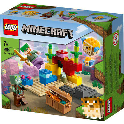 £13.22 • Buy Lego Minecraft The Coral Reef Building Set 21164 Underwater Adventures Ages 7+